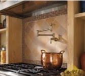 Pot filler in home kitchen