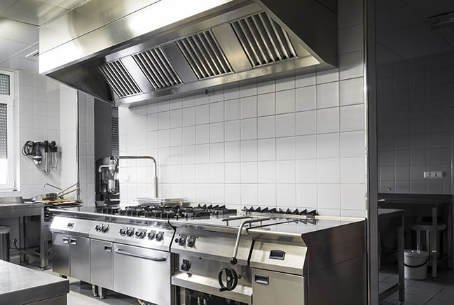 remodeled commercial kitchen